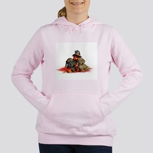 Halloween Dachshunds Women's Hooded Sweatshirt