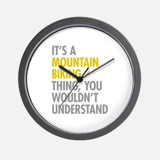 Mountain Biking Thing Wall Clock