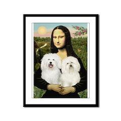 Mona's 2 Bolognese Framed Panel Print