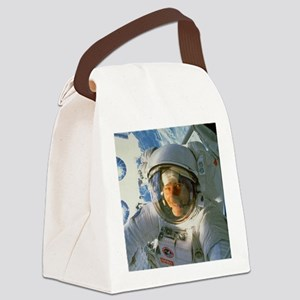 Space Walk Canvas Lunch Bag