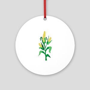 Corn Stalk Ornament (Round)