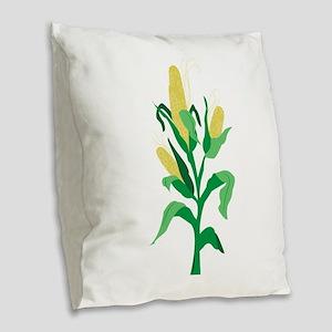 Corn Stalk Burlap Throw Pillow