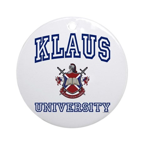 KLAUS University Ornament (Round)