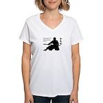 Aiki Jo Women's V-Neck T-Shirt