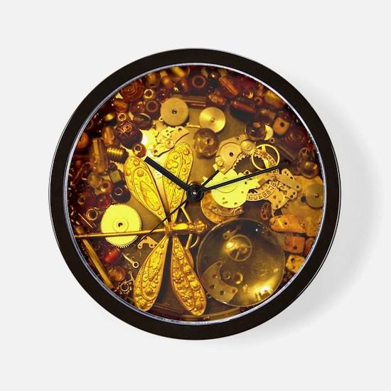Steampunk Dragonfly Wall Clock