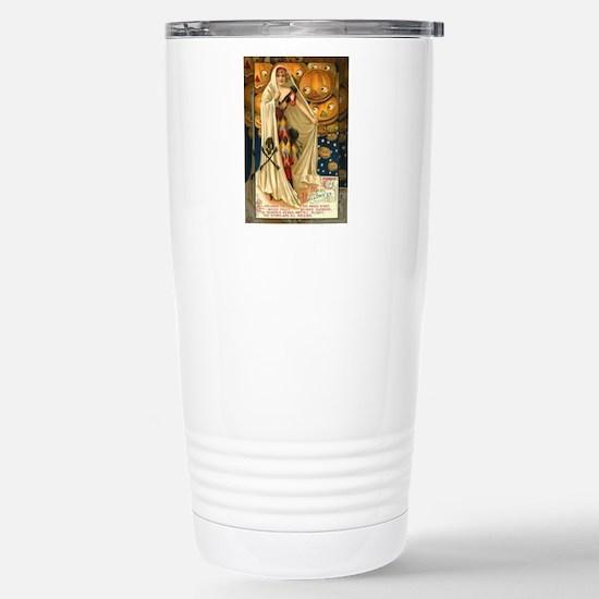 Vintage Halloween Jack O Lantern Girl Travel Mug
