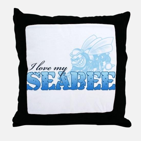 I Love My Seabee Throw Pillow