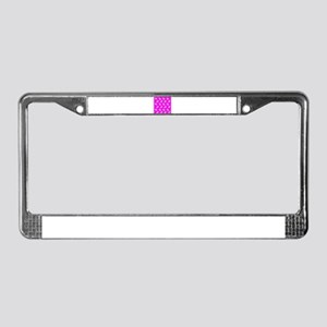 Doves on Hot Pink License Plate Frame