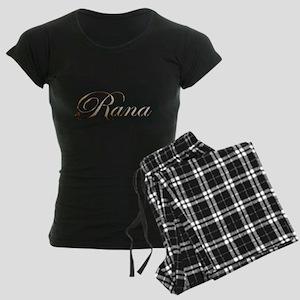 Gold Rana Women's Dark Pajamas