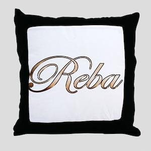 Gold Reba Throw Pillow