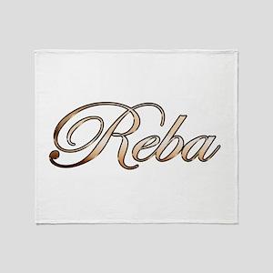 Gold Reba Throw Blanket