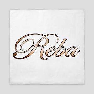 Gold Reba Queen Duvet