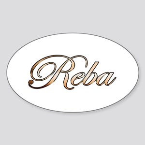 Gold Reba Sticker