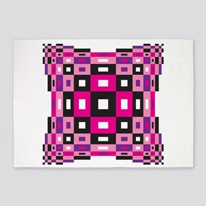 Op Art Design 5'x7'Area Rug