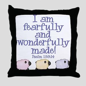 Wonderfully Made Throw Pillow