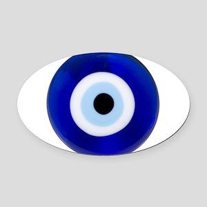 Nazar Amulet Evil Eye Protection Oval Car Magnet