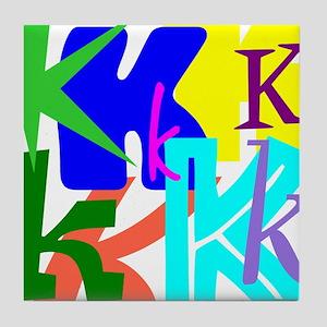 Initial Design (K) Tile Coaster