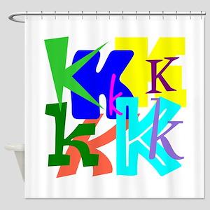 Initial Design (K) Shower Curtain