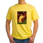 Seated Angel & Bolognese Yellow T-Shirt