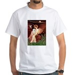 Seated Angel & Bolognese White T-Shirt