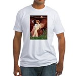 Seated Angel & Bolognese Fitted T-Shirt