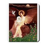 Seated Angel & Bolognese Mousepad