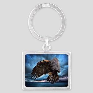 Eagle in Flight Landscape Keychain