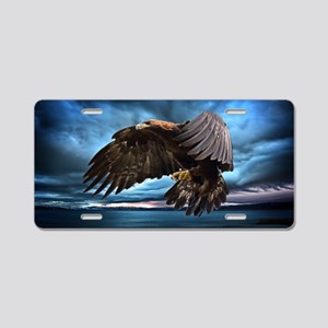 Eagle In Flight Aluminum License Plate