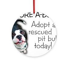 Adore-A-Bull! Pit Bull Ornament (Round)