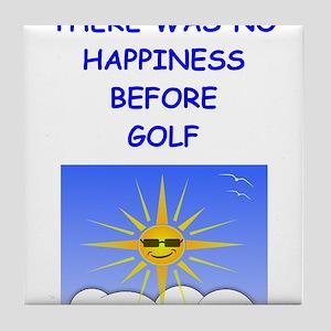 golfing Tile Coaster