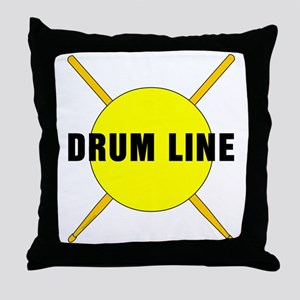 Drum Line Throw Pillow