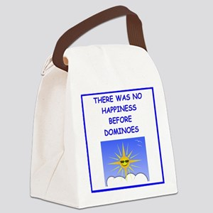 dominoes Canvas Lunch Bag