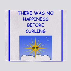 curling Throw Blanket