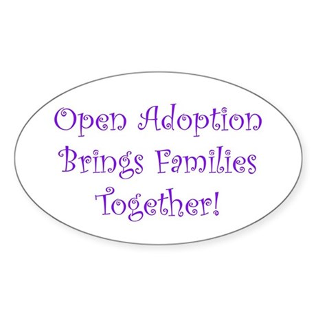 Adoption Creates Families Oval Sticker