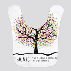Teacher appreciation quote Polyester Baby Bib