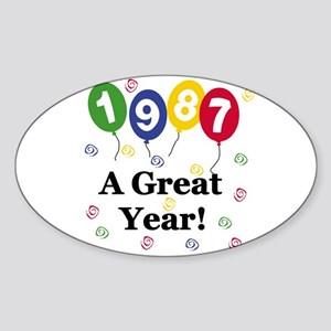 1987 A Great Year Oval Sticker