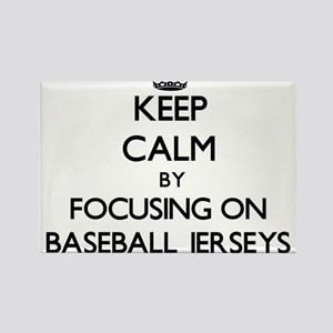 Keep Calm by focusing on Baseball Jerseys Magnets