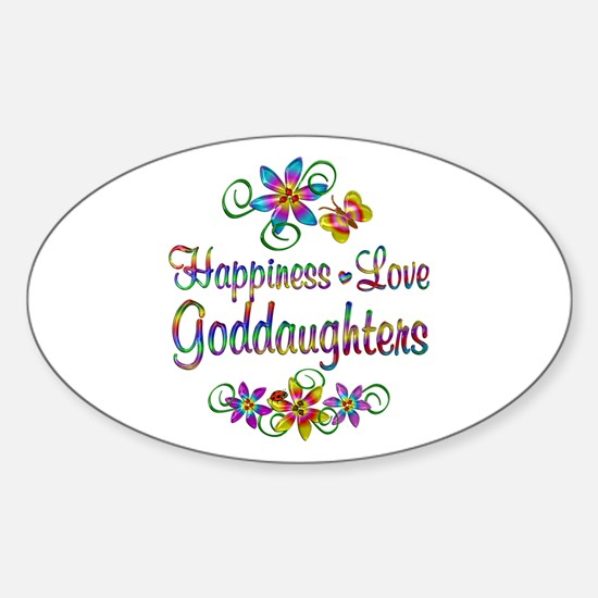 Goddaughters Love Sticker (Oval)