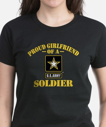 Proud U.S. Army Girlfriend Women's Dark T-Shirt