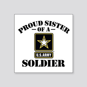 Proud Sister Of A Us Marine Square Stickers Cafepress