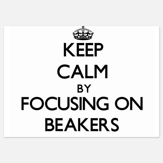 Keep Calm by focusing on Beakers Invitations