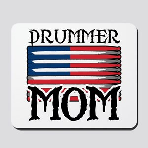 Drummer Mom USA Flag Drum Mousepad