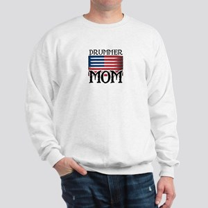 Drummer Mom USA Flag Drum Sweatshirt