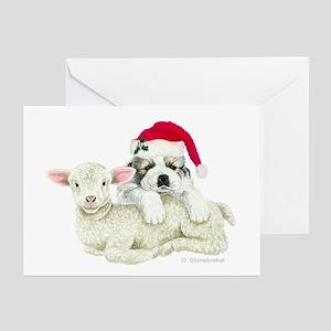Pyr Pup/Lamb Christmas Cards (6)