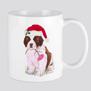 Saint Bernard Puppy Christmas Mug