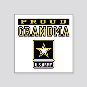 "Proud Grandma U.S. Army Square Sticker 3"" x 3"""