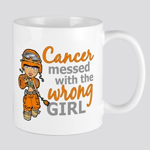 Combat Girl Leukemia Large Mugs