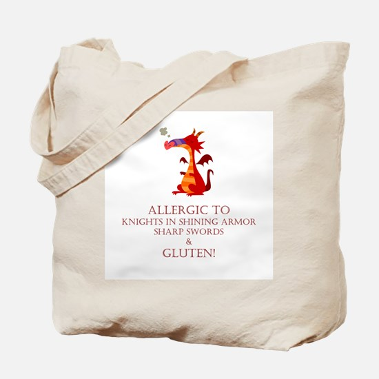 Gluten Allergy Dragon Tote Bag