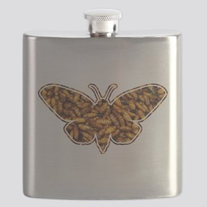 Bamboo Borer Moth Life Cycle Silhouette Flask