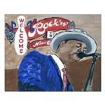 New Orleans Blues Singer Small Poster